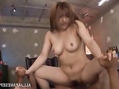 Asian, Big Tits, Blowjob, Creampie, Ebony