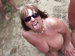Amateur, Beach, Bukkake, Mature