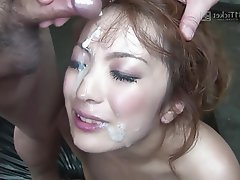 Asian, Bukkake, Creampie, Group Sex