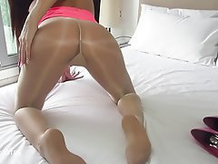 High Heels, Pantyhose, Pantyhose, Pussy