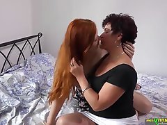 Compilation, Granny, Lesbian, Mature, Old and Young