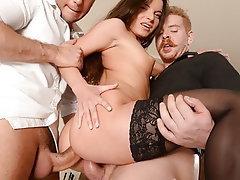 Blowjob, Double Penetration, Small Tits, Threesome