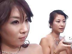 Threesome, Creampie, Japanese, MILF, Amateur
