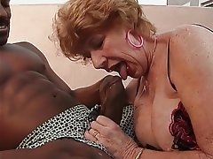 Blowjob, Facial, Interracial, Lingerie, Pantyhose